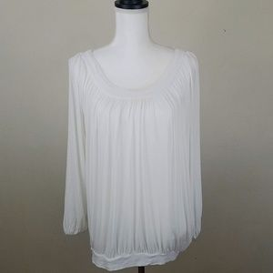 Free People  White Oversized  Top